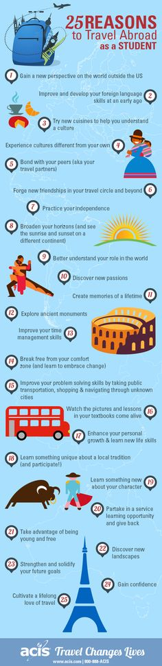 25 Reasons to Travel as a Student | ACIS Educational Tours #travel #studyabroad