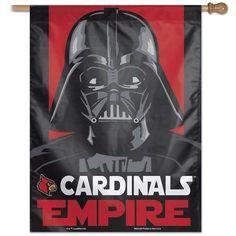"""27"""""""" x 37"""""""" Vertical Star Wars Louisville Cardinals House Flag"""