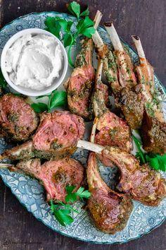 Rack Of Lamb Chops Recipe, Roasted Rack Of Lamb Recipe, Roast Rack Of Lamb, Crusted Rack Of Lamb, Rack Of Lamb Marinade, Lamb Chop Recipes, Meat Recipes, Cooking Recipes, Dinner Recipes