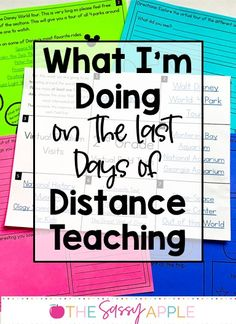What I'm Doing on the Last Days of Distance Teaching - Virtual field trip ideas and free response sheets, EOY read alouds, virtual talent show, trivia game, slide show