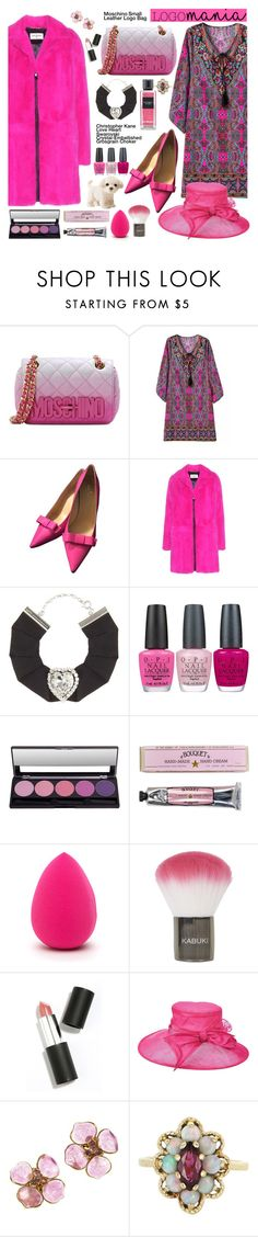 """Pink Paisley and Fur!"" by esch103 ❤ liked on Polyvore featuring Moschino, Kate Spade, Yves Saint Laurent, Christopher Kane, OPI, Soap & Paper Factory, Topshop, Sigma Beauty, Scala and Chanel"