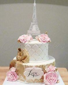 Paris Birthday Cakes, Paris Themed Cakes, Paris Themed Birthday Party, 15th Birthday Cakes, Paris Cakes, Paris Party, Theme Cakes, Birthday Cake Decorating, Birthday Party Decorations