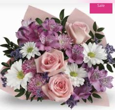 Gorgeous bunch of pretty pink and white flowers great gift idea on special Beautiful Flower Arrangements, Romantic Flowers, Exotic Flowers, Amazing Flowers, Rose Flowers, Mum Flower, White Flowers, Pink Roses, Phalaenopsis Orchid