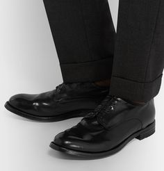 Officine Creative Leather Derby Shoes In Black Officine Creative, Black Polish, Derby Shoes, Loafers Men, Oxford Shoes, Mens Fashion, Heels, Leather, Style