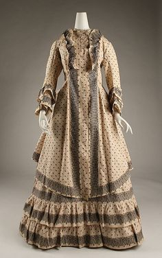 Morning Dress 1872, American made of cotton