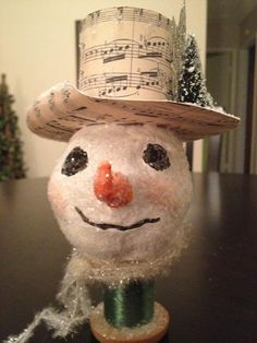 Paperclay snowman