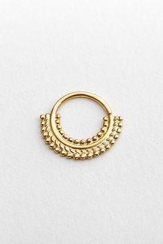 Indian Septum Ring Gypsy Septum Ring Primitive by StudioMeme