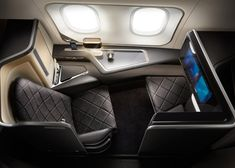 First-class cabin interiors for British Airways' new Dreamliners