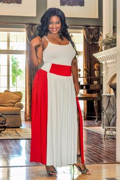 7a806c6003d Colorblock Maxi Skirt by SpoiledDiva