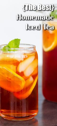This contains: We're sharing all the tips and tricks you need to make the most flavorful, refreshing sweetened, or unsweetened iced tea. Homemade iced tea only requires a few simple steps and ingredients. Follow the process below and you'll be sipping tea on the porch in no time.