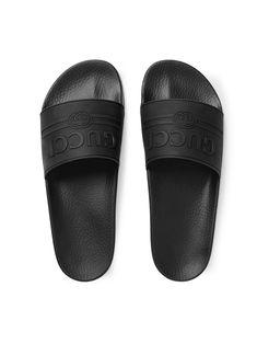 ede0f439780ffe Gucci Gucci Logo Rubber Slide Sandal