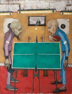 "Saatchi Art Artist Sergey  Dyomin; Painting, ""Ping Pong"" #art"