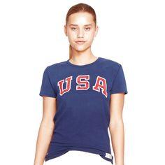 Team USA Polo Ralph Lauren Women's 2016 Olympics Jersey Knit T-Shirt - Navy - $44.00