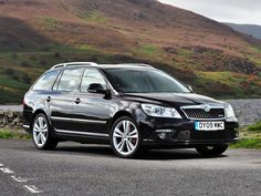 Skoda Octavia VRS Combi - looking sleek in a mountain landscape - fantastic car for this type of driving!