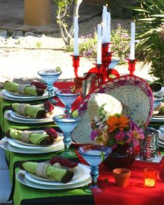 Cinco de Mayo tablescape is just an example of a themed dinner party.  I love mexican food so this is perfect.  This table may cost upwards of $100 to put together.