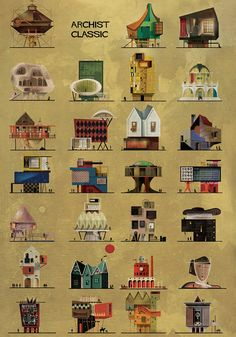 federico babina captures famous artists as architectural illustrations federico babina archist classic Architecture Drawings, Amazing Architecture, Architecture People, Architecture Diagrams, Architecture Portfolio, City Art, Rembrandt, Famous Artists, Watercolor Art