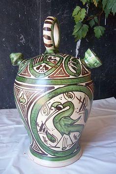 Ceramica Teruel. Botijo vidriado
