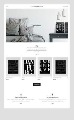 Clean and minimalist web design by Snow & Feathers - Clean and minimalist web design by Snow & Feathers - Web Design Trends, Design Websites, Design Blog, Page Design, Design Design, Clean Web Design, Minimalist Graphic Design, Modern Web Design, Webdesign Portfolio