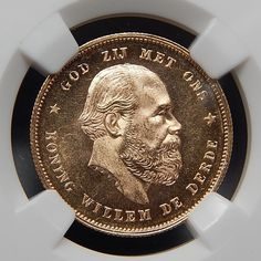 1877 NETHERLAND 10 GULDEN COLLECTIBLE GOLD COIN GRADED BY NGC MS 64 #gold-coins