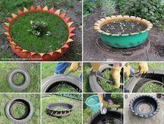 Dicas criativas para reciclar pneus  Fonte http://www.labcriativo.com.br/dicas-criativas-para-reciclar-pneus/