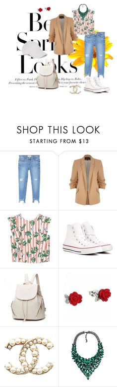 """SPRING"" by cristhyne-torres on Polyvore featuring moda, H&M, MANGO, River Island e Converse"
