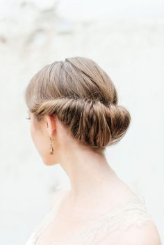 Gibson Roll   Wedding Hair Inspiration   Photo by Christine Meintjes