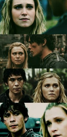 Bellarke looking at each other when the other is not looking back