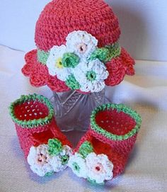 Cotton Sun Hat with Flowers for Babies to Adults by Sandy Powers