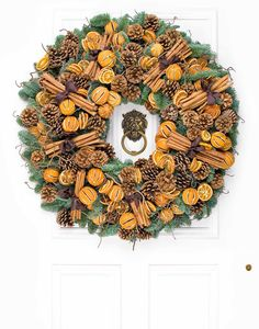 Philippa Craddock Christmas Mulled Wreath - 20 to 28 inches diameter Artificial Christmas Wreaths, Christmas Door Wreaths, Holiday Door Decorations, Holiday Decor, Holiday Ideas, Christmas 2014, Christmas Crafts, Christmas Things, Christmas Ideas