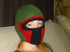 Boba Fett crochet hat...sooooooo jealous!