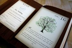 Cool book inspired invitations