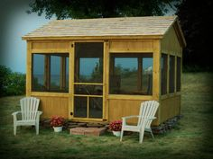 Custom Built Screenhouses - uniqueGardenSheds