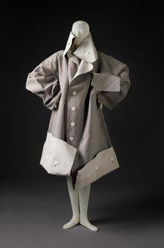 1983, Japan - Coat by Yohji YAMAMOTO - Cotton, rubber, plastic