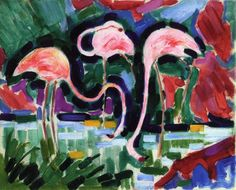 Jean Metzinger. Three Pink Flamingos.