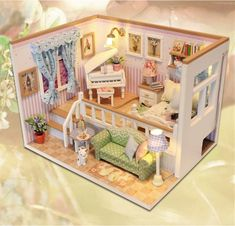 CUTEBEE Doll House Miniature DIY Dollhouse With Furnitures Wooden House Stars Sky Toys For Children Birthday Gift - Kid Shop Global - Kids & Baby Shop Online - baby & kids clothing, toys for baby & kid Dollhouse Toys, Wooden Dollhouse, Dollhouse Furniture, Dollhouse Miniatures, Home Furniture, Haunted Dollhouse, Diy Dolls House Kits, House Star, Diy Casa