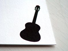 Guitar Note Cards  Personalized Stationery  Flat by fionadesigns, $20.00