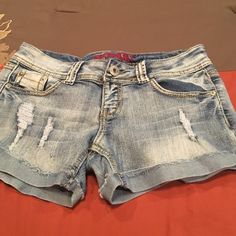 Shorts Ripped shorts. Stretches a little for comfort. Still in good condition. BONGO Shorts Jean Shorts
