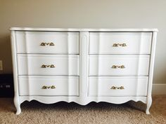 DIY dresser restoration project! Chalk paint ~ nursery ~ craft