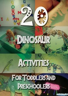 My Life with Pipidinko: 20 Dinosaur Activities for Toddlers and Preschoolers Dinosaur Theme Preschool, Dinosaur Activities, Dinosaur Crafts, Preschool Class, Preschool Themes, Preschool Lessons, Classroom Activities, Learning Activities, Preschool Activities
