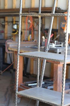 I Mentioned Before That I Found This Amazing Metal Craftsman, Tom Tuberty,  Who Is Making Shelving For My Kitchen, As Well As Book Shelves,.