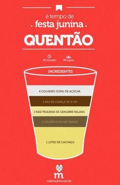 Quentão Receita um Típico Beber livre Brasil Junho Festividades - / Mulled wine one Recipe Drinking Typical free Brazil June Festivities - Cocktail Drinks, Cold Drinks, Alcoholic Drinks, Beverages, Cocktails, Drink Bar, Food And Drink, Barista, Host A Party
