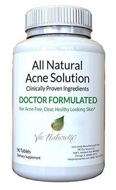 Vie Naturelle Acne Treatment Pills Supplement 90 Tablets >>> Click image to review more details.