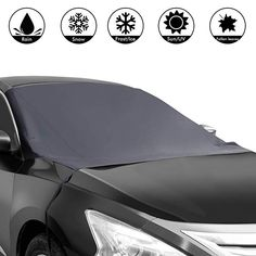 MDEK Windshield Sunshade Cover Truck SUV 72 x 45 in Waterproof Frost Covers Anti Foil Ice Dust Sun Aluminum Shield Screen Protector Most Cars Sun Shade Protector Van