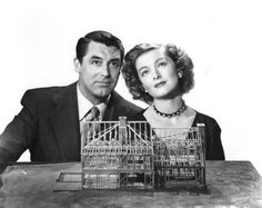 Cary Grant and Myrna Loy in a publicity still for Mr. Blandings Builds His Dream House (1948)