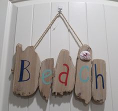 GREAT BEACH SIGN PLAQUE DRIFTWOOD STYLE HANGING HOME DECOR NAUTICAL COASTAL NEW #Unbranded #BEACHSIGN