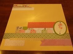 *Stampin' Up, by Amy Frillici, Gathering Inkspiration **order products online at amysuzanne.stampi..., Tea for Two Delicate Details Lace Tape oh, hello scrapbook page