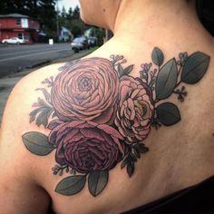 Bildresultat för ranunculus flower tattoo
