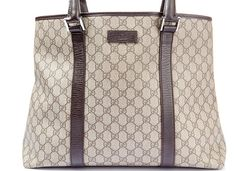 Auth GUCCI GG Canvas Tote Bag Shoulder Bag 114288  #Gucci #TotesShoppers