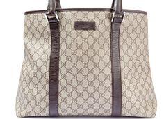 Auth GUCCI GG Canvas Tote Bag Shoulder Bag 114288  #Gucci #TotesShoppers