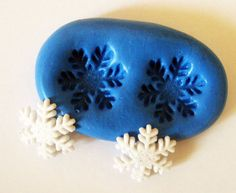 Snowflake Flexible Silicone Push Mold for Polymer by MyfioriDes, $4.50